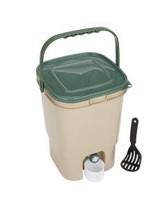 23L Single Square Bokashi Compost Bin Kit with 2kg Bokashi Bran
