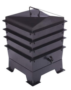 3 Tray Standard Tiger Wormery Black