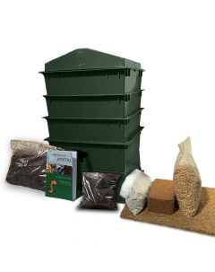 3 Tray Deluxe Tiger Wormery Green