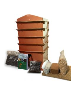 4 Tray Deluxe Tiger Wormery Terracotta