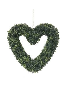 Artificial Topiary Hanging Heart - 45cm