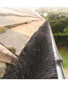 Hedgehog Gutter Brush in drain
