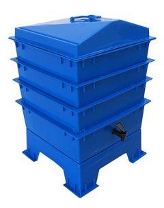 3 Tray Deluxe Tiger Rainbow Wormery Dark Cobalt Blue