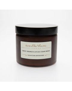 Vanilla Blanc Sweet Orange & Atlas Cedar Wood Coconut Wax Candle 250ml