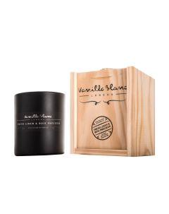 Vanilla Blanc Fresh Linen & Bois Precieux Matt Edition Kosher Soy Candle in Gift Box