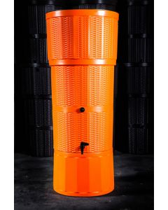 150L Rattan Wicker Effect Polybutt Water Butt - Orange