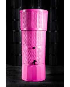 150L Rattan Wicker Effect Polybutt Water Butt - Pink