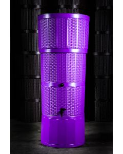 150L Rattan Wicker Effect Polybutt Water Butt - Purple