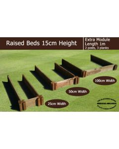 15cm High Extra Module for Raised Beds - Blackdown Range - 25cm Wide