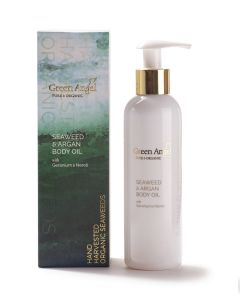 200ml Green Angel Organic Seaweed & Argan Body Oil with Geranium and Neroli