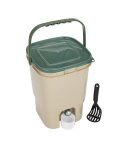 23L Single Square Bokashi Compost Bin Kit with 2kg Bokashi Bran