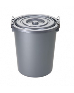 27 Litre Grey Plastic Bin & Lid