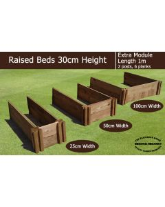 30cm High Extra Module for Raised Beds - Blackdown Range - 100cm Wide