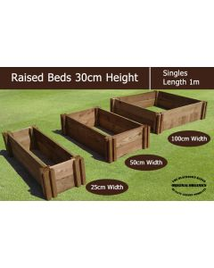 30cm High Single Raised Beds - Blackdown Range - 100cm Wide