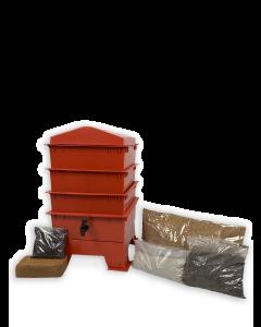 3 Tray Standard Pet & Dog Poo Wormery Terracotta