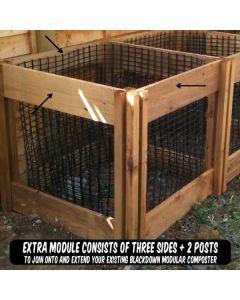 400 Blackdown Range Single Leaf Mould Wooden Composter Extra Module