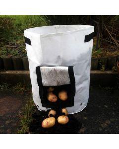 40L White Potato Grow Bag Planter with Pocket