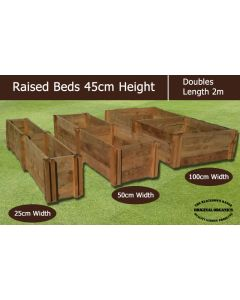 45cm High Double Raised Beds - Blackdown Range - 50cm Wide