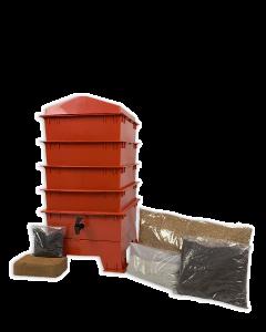 4 Tray Standard Pet & Dog Poo Wormery Terracotta