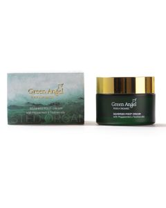 50ml Green Angel Organic Seaweed Foot Cream with Peppermint & Tea Tree Oils