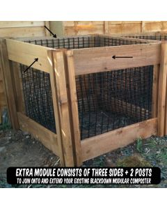 600 Blackdown Range Single Leaf Mould Wooden Composter Extra Module