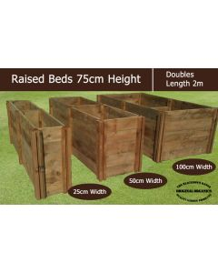 75cm High Double Raised Beds - Blackdown Range - 100cm Wide