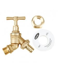 "1/2"" Brass Tap Kit with 1"" BSP Adapter"