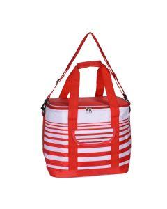 Cooler Bag 12 Litre Stripe Red