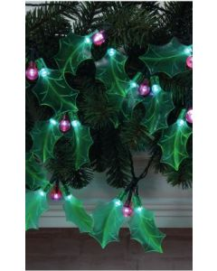 Holly Sprigs Light Chain With 20 Warm White LEDs