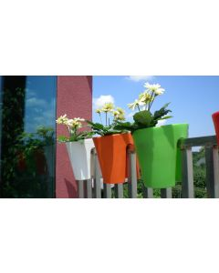 Roto Balconee Easy To Hang Balcony Planter 30cm - Orange
