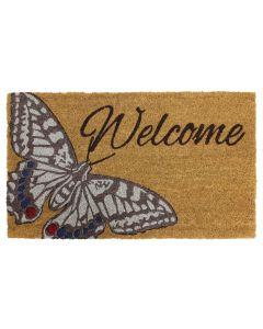 Butterfly Latex Coir Doormat 45 x 75cm