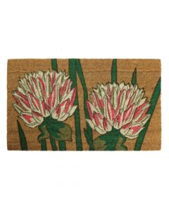 Chrysanthemum Latex Coir Doormat 45 x 75cm