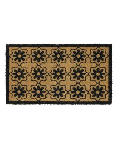 Flower Latex Coir Doormat 40 x 70cm