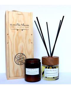 Vanilla Blanc Apothicaire Collection 120ml Candle & 100ml Diffuser Gift Set - Lemongrass & Eucalyptus Dives