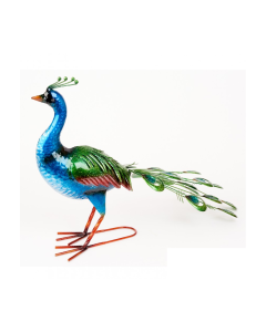 Metal Vibrant Peacock Ornament