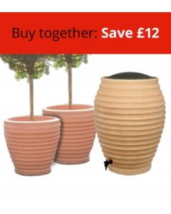 Moroccan Beehive Water Butt and Two Medium Moroccan Planters