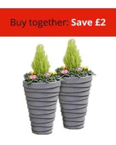 Two Small Trojan Planters Bundle
