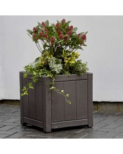 Square Planter 40cm  - Wood Effect