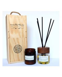Vanilla Blanc Apothicaire Collection 120ml Candle & 100ml Diffuser Gift Set - Sweet Orange & Atlas Cedarwood