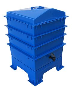 4 Tray Deluxe Tiger Rainbow Wormery Dark Cobalt Blue