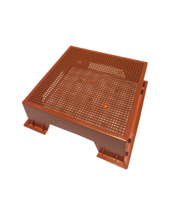 The Tiger Wormery Stand in Terracotta
