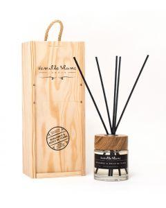Vanilla Blanc Bergamot & Huile de Ylang (Oil of Ylang) Natural Reed Diffuser in Gift Box