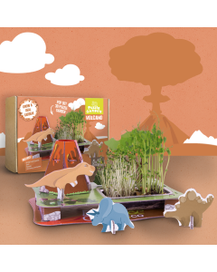 3D Puzzle Garden - Volcano